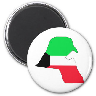 Kuwait Flag Map full size Magnet