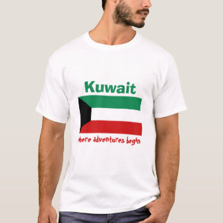 Kuwait Flag + Map + Text T-Shirt