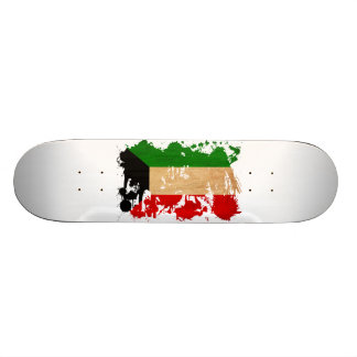 Kuwait Flag Skateboard Deck