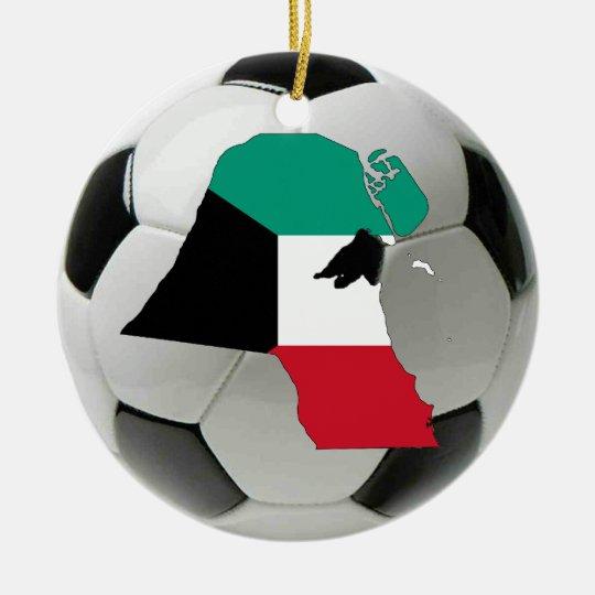 Kuwait football soccer ornament