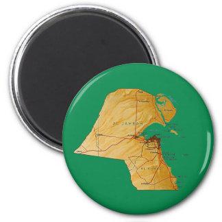 Kuwait Map Magnet