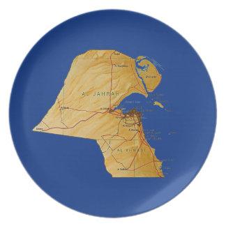 Kuwait Map Plate