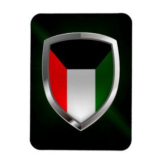 Kuwait Metallic Emblem Magnet