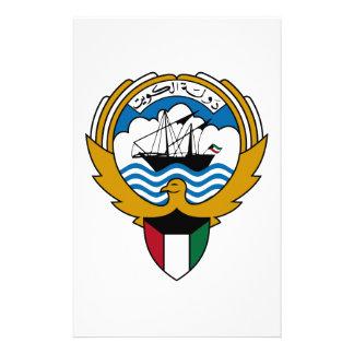 Kuwait National Emblem Stationery Design