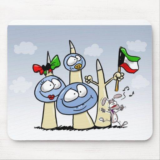 kuwait-T-shirt Mouse Pads