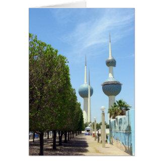 Kuwait towers card