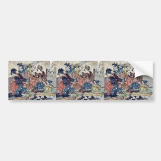 Kuwana  by Katsushika, Hokusai Ukiyoe Bumper Sticker