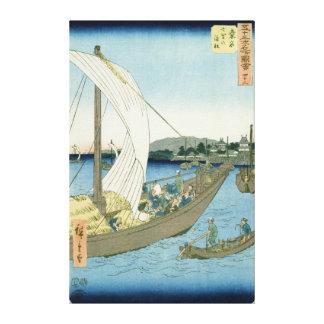 Kuwana Landscape, from '53 Famous Views' Canvas Print
