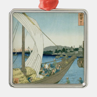 Kuwana Landscape, from '53 Famous Views' Christmas Ornament