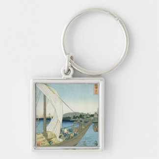 Kuwana Landscape, from '53 Famous Views' Key Ring