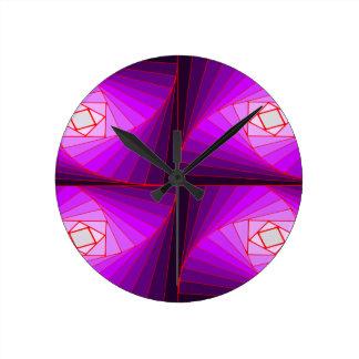 kuwatsudo spiral purple round clock