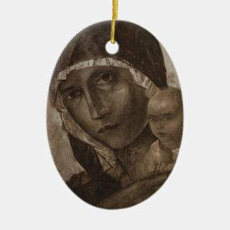 Kuzma Petrov-Vodkin- Madonna and Child Ornaments