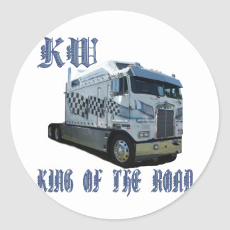 KW King of the Road Round Sticker