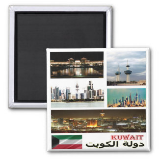 KW - Kuwait - Mosaic - Collage Square Magnet