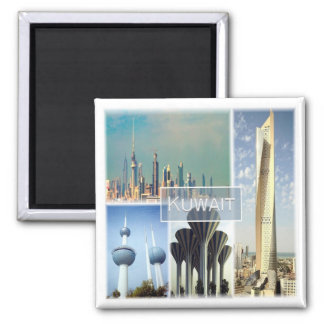 KW * Kuwait Square Magnet