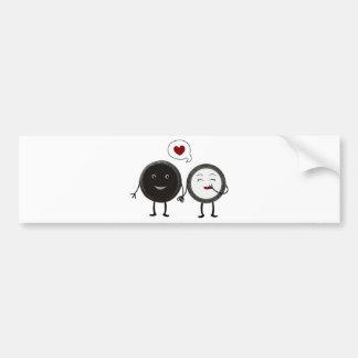 Kwaii Cookies and Cream Love Bumper Sticker