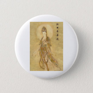 Kwan Yin The Goddess of Compassion 6 Cm Round Badge