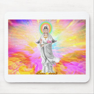 Kwan Yin The Goddess of Compassion With Pink Mouse Pad
