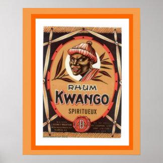 Kwango Rhum Vintage Ad Poster 16 x 20
