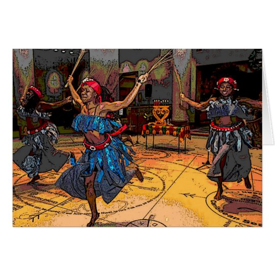 Kwanza Greeting Card Kwanzaa Dancers