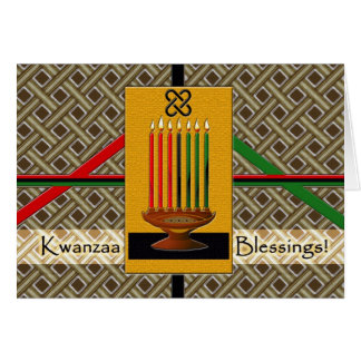 Kwanzaa Blessings Greeting Card