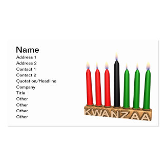 Kwanzaa Double-Sided Standard Business Cards (Pack Of 100)