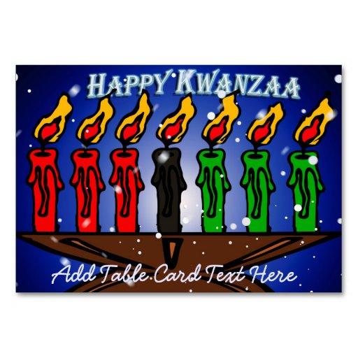Kwanzaa Candle Kinara with Snow And Greeting Table Card