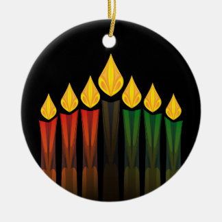 kwanzaa candles christmas ornament