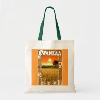 Kwanzaa -cornfields at sunset tote bag