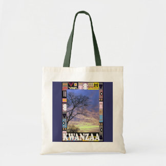 Kwanzaa -countryside scene tote bag
