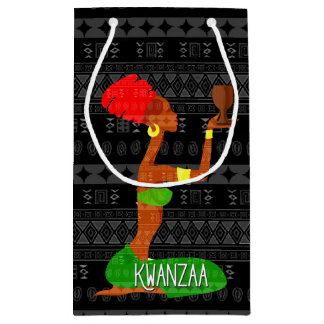 Kwanzaa Dancers and Unity Cup African American Small Gift Bag