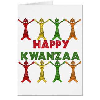 Kwanzaa Dancers Card