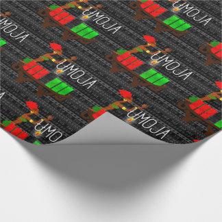 Kwanzaa Day 1 Umoja Kinara Unity Lighting Wrapping Paper