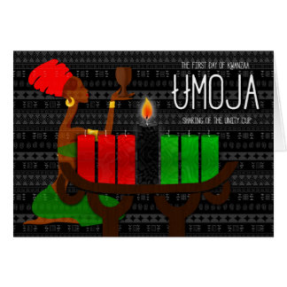 Kwanzaa Day 1 Unity the Lighting of Black Candle Card
