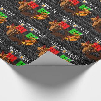 Kwanzaa Day 2 Kujichagulia Kinara Determination Wrapping Paper