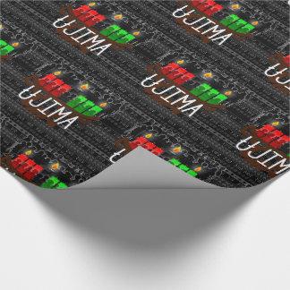 Kwanzaa Day 3 Ujima Kinara Responsibility Wrapping Paper