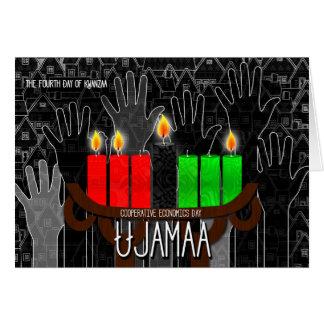 Kwanzaa Day 4 Ujamaa Cooperative Econimcs Kinara Greeting Card