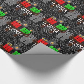 Kwanzaa Day 4 Ujamaa Kinara Cooperative Econimcs Wrapping Paper