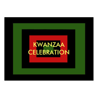 Kwanzaa Gift Tag Large Business Cards (Pack Of 100)