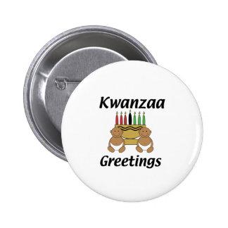 Kwanzaa Greetings 6 Cm Round Badge