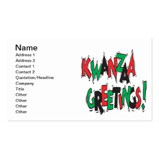 Kwanzaa Greetings Double-Sided Standard Business Cards (Pack Of 100)