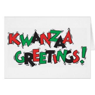 Kwanzaa Greetings Greeting Cards