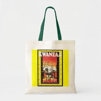 Kwanzaa - in the village tote bag