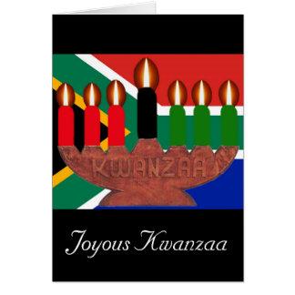 kwanzaa kinaras South Africa Greeting Card