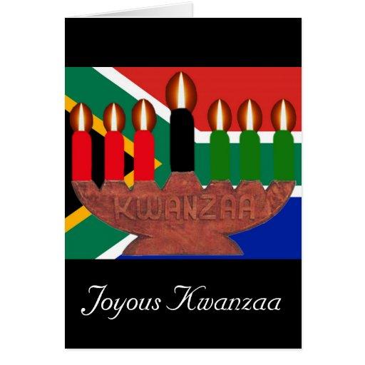 kwanzaa kinaras South Africa Greeting Cards