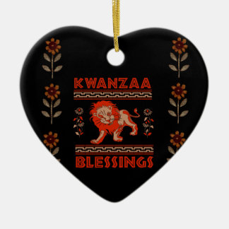 Kwanzaa Lion Christmas Ornament