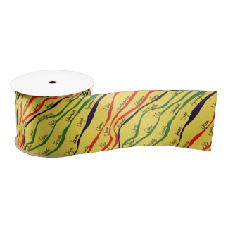 Kwanzaa Patterns Satin Ribbon