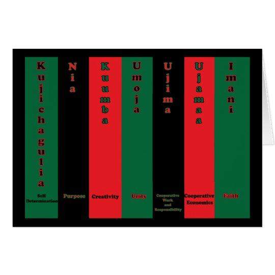 Kwanzaa Seven Principles Card