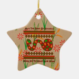 Kwanzaa Snake Christmas Ornament