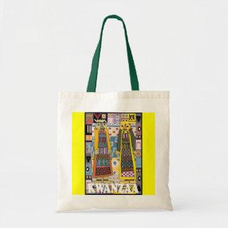 Kwanzaa -tribal figures tote bag